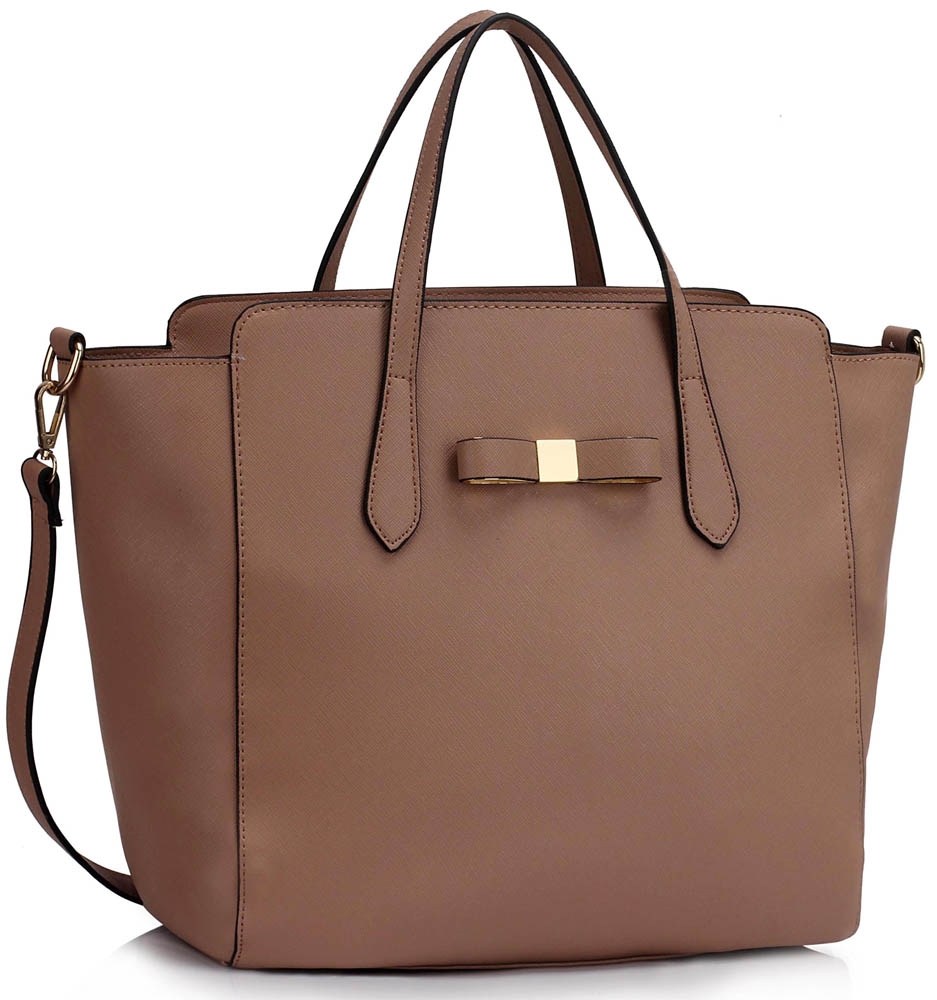 Kabelka LS00402 - Nude Women's Large Tote Bag