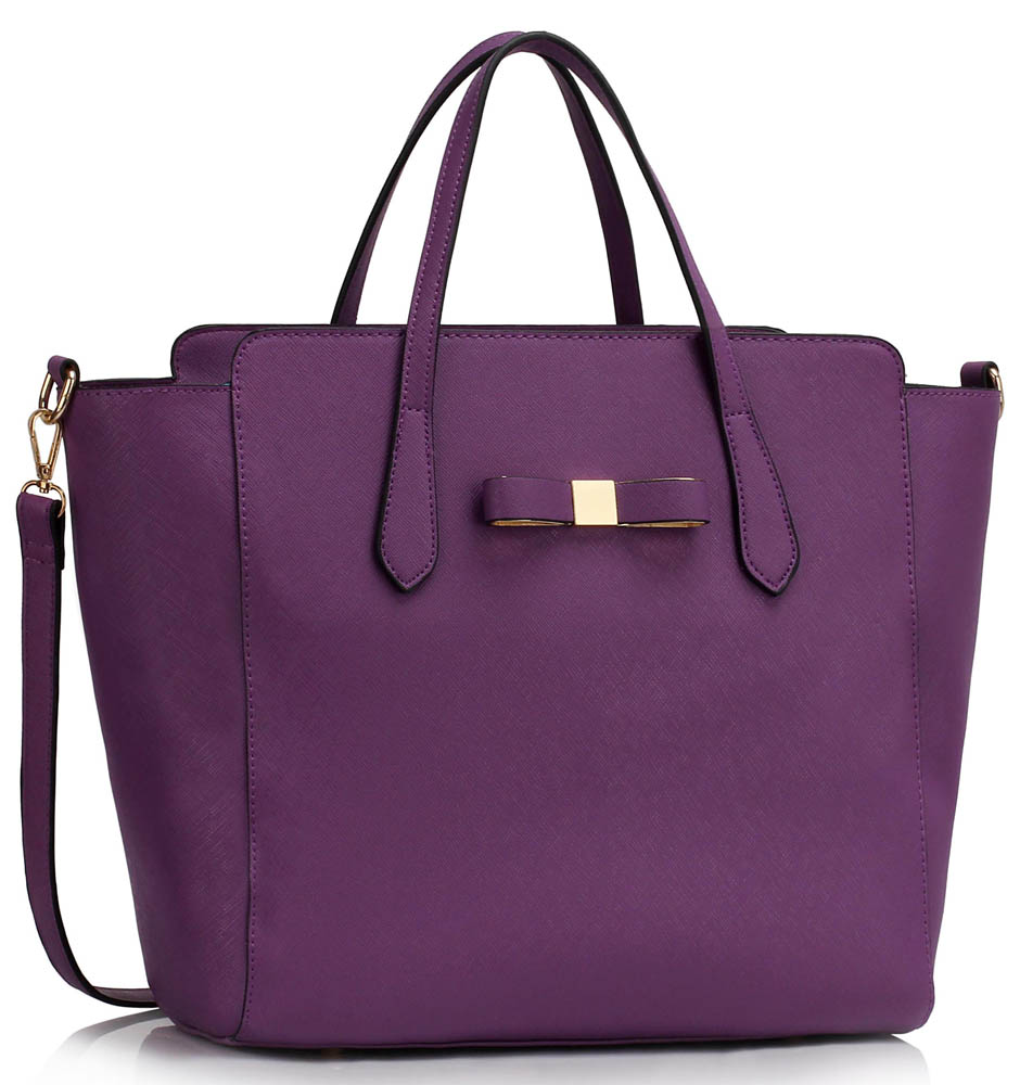 Kabelka LS00402 - Purple Women's Large Tote Bag