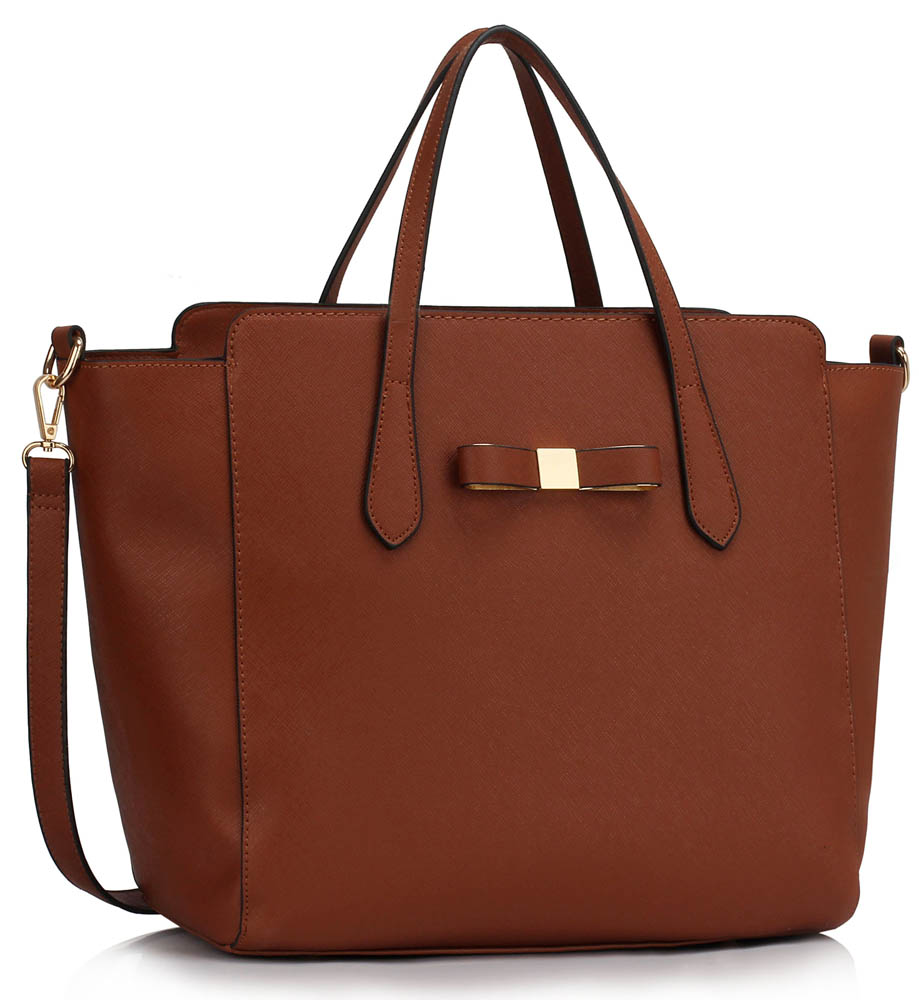 Kabelka LS00402 - Brown Women's Large Tote Bag