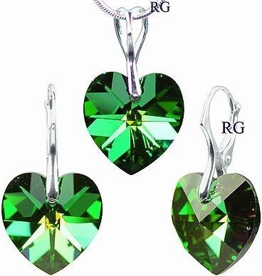 Swarovski Elements zelený LSW035S