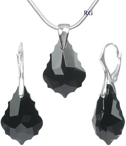 Swarovski Elements baroque černý LSW034S