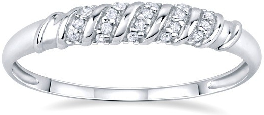 Stříbrný prsten se zirkony CLARICE - FNJSG0008