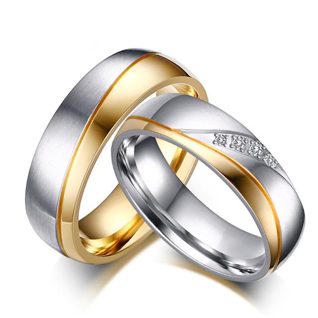 Snubní prsteny z chirurgické oceli R-M4043