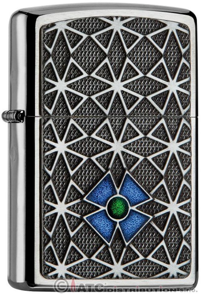 Benzínový zapalovač Zippo CROSS BLUE/GREEN 21837