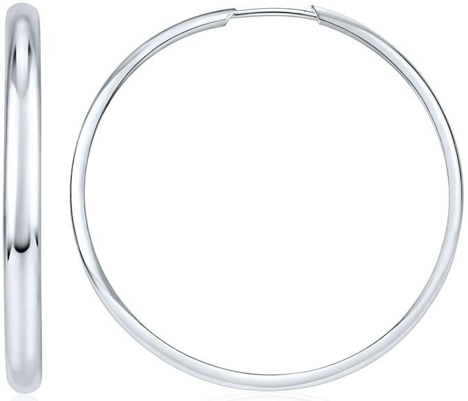 Náušnice stříbrné kruhy SVXKL75