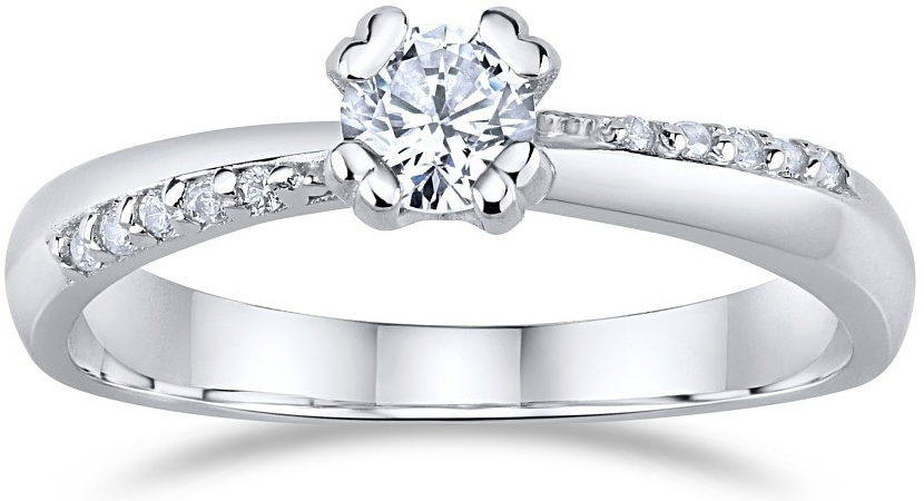 Zásnubní stříbrný prsten SILVEGO se Swarovski® Zirconia