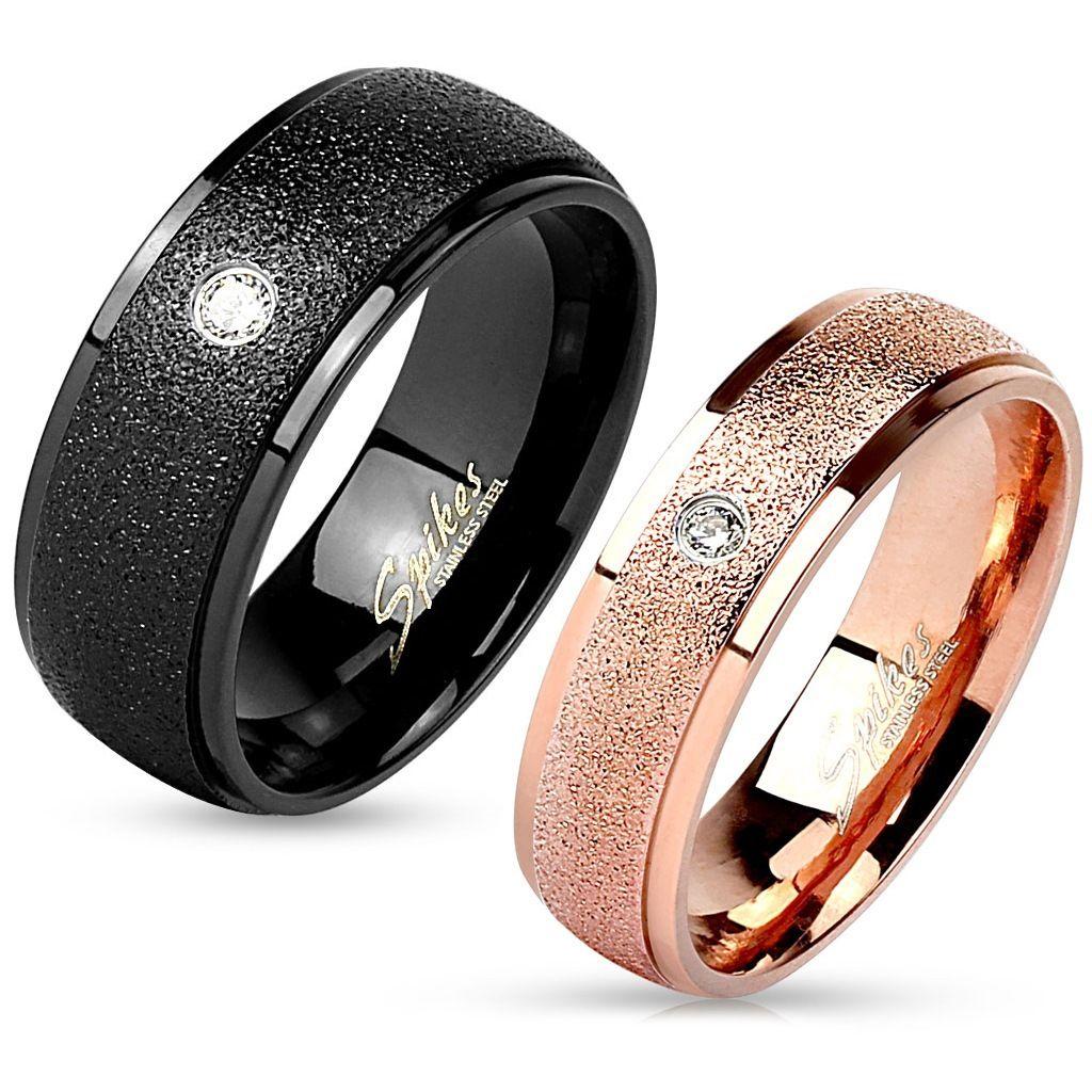 Snubní prsteny z chirurgické oceli R-M3166KR