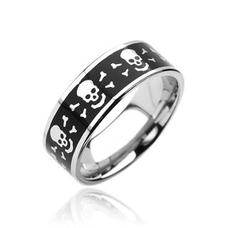 Prsten z chirurgické oceli R6942 (Dárkové balení zdarma)