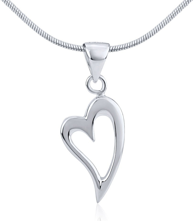 Stříbrný přívěsek srdce PRM54002