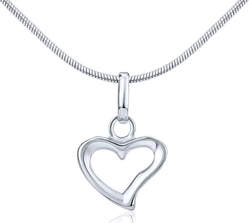 Decentní stříbrný přívěsek srdce PRM43511
