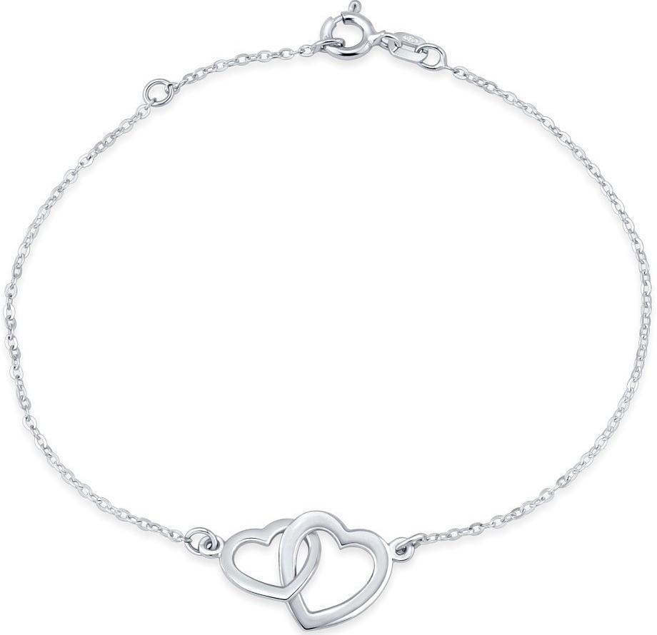 Stříbrný náramek dvojité srdce SMJB060RN3