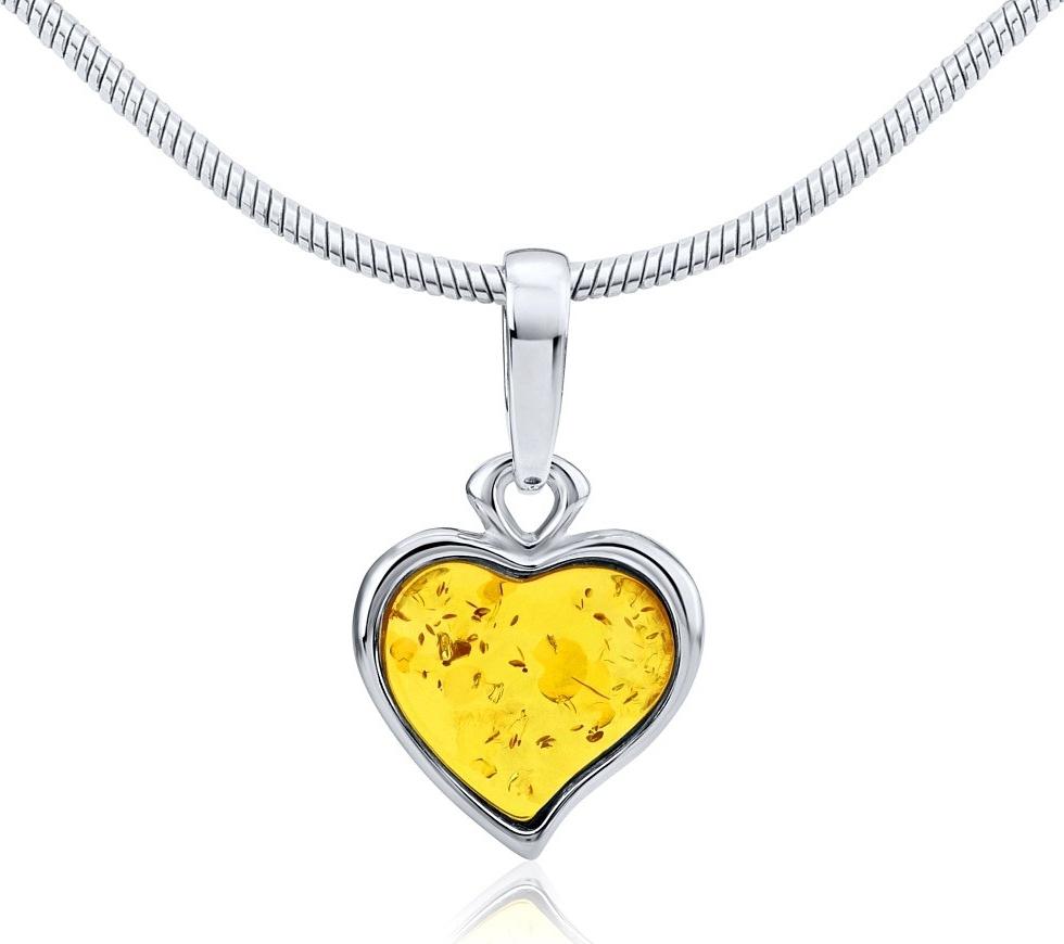 Stříbrný přívěsek LIBI se žlutým přírodním jantarem - AAJB3602-Y
