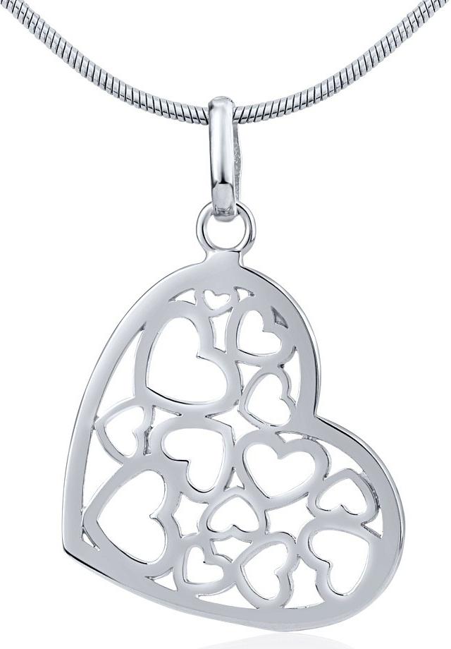 Stříbrný přívěsek srdce - ZTJP13509