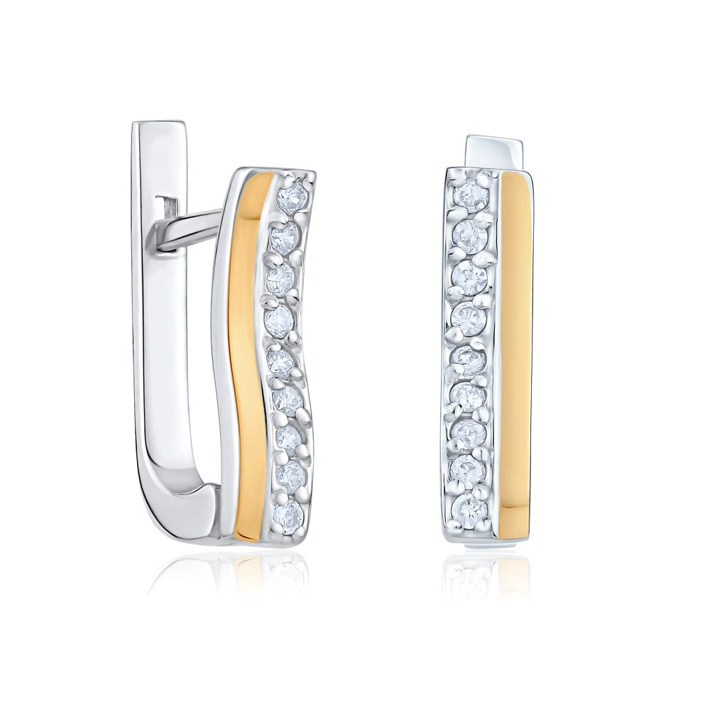 Náušnice ROXA ze zlata a stříbra BNU344