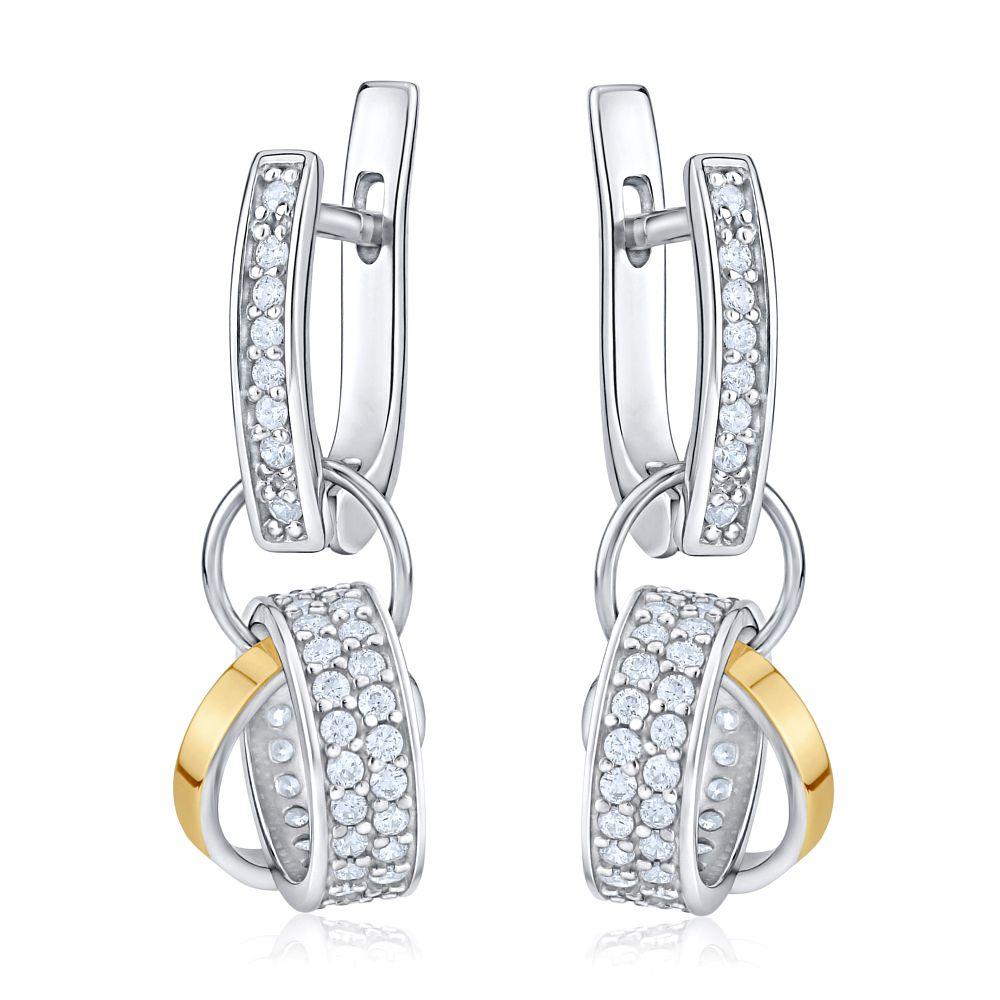 Luxusní náušnice VERITY ze zlata a stříbra BNU1021A