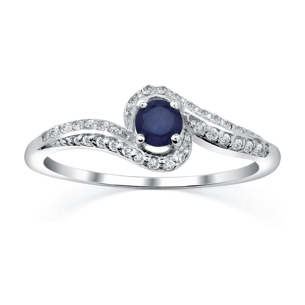 Stříbrný prsten IDONEA s přírodním safírem FNJR016sa