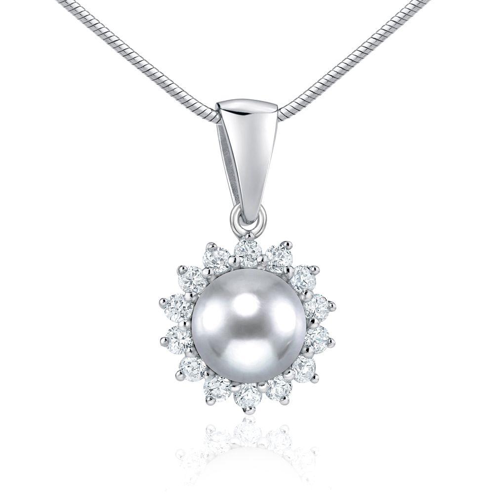 Stříbrný přívěsek s přírodní perlou FNJ0887PSP