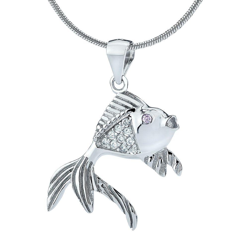 Stříbrný přívěsek rybička SHZP673