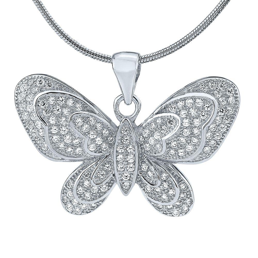 Stříbrný přívěsek motýlek SHZP570