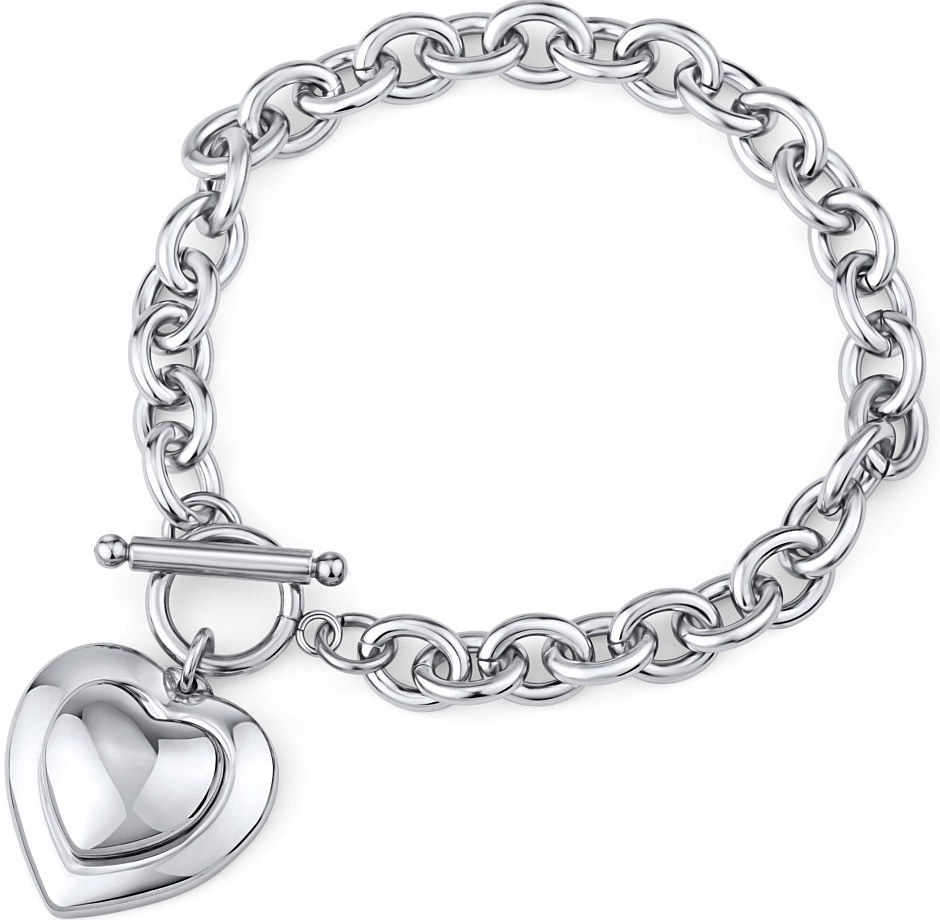 Náramek srdce z chirurgické oceli KMMB62118