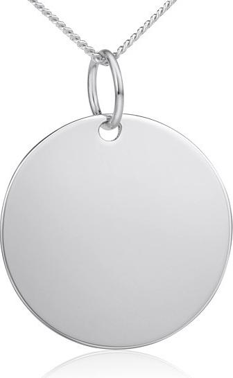 Stříbrný přívěsek kolečko - velké 25 mm