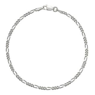 Náramek stříbrný Figaro ZB9100