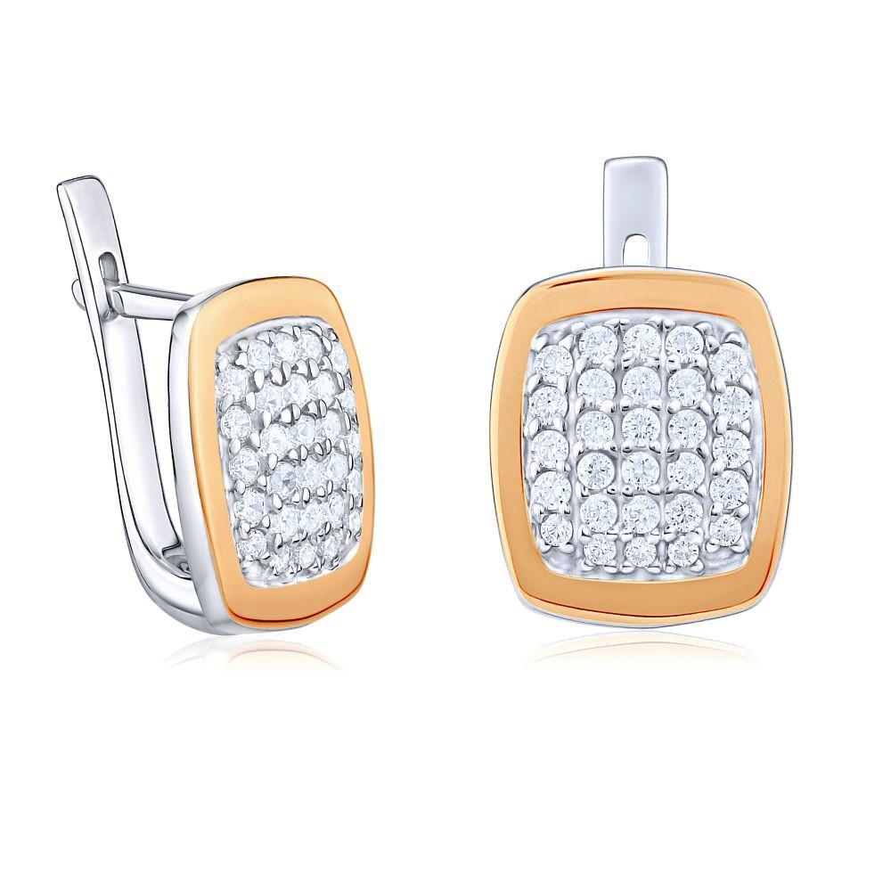 Luxusní náušnice JUVELA ze zlata a stříbra
