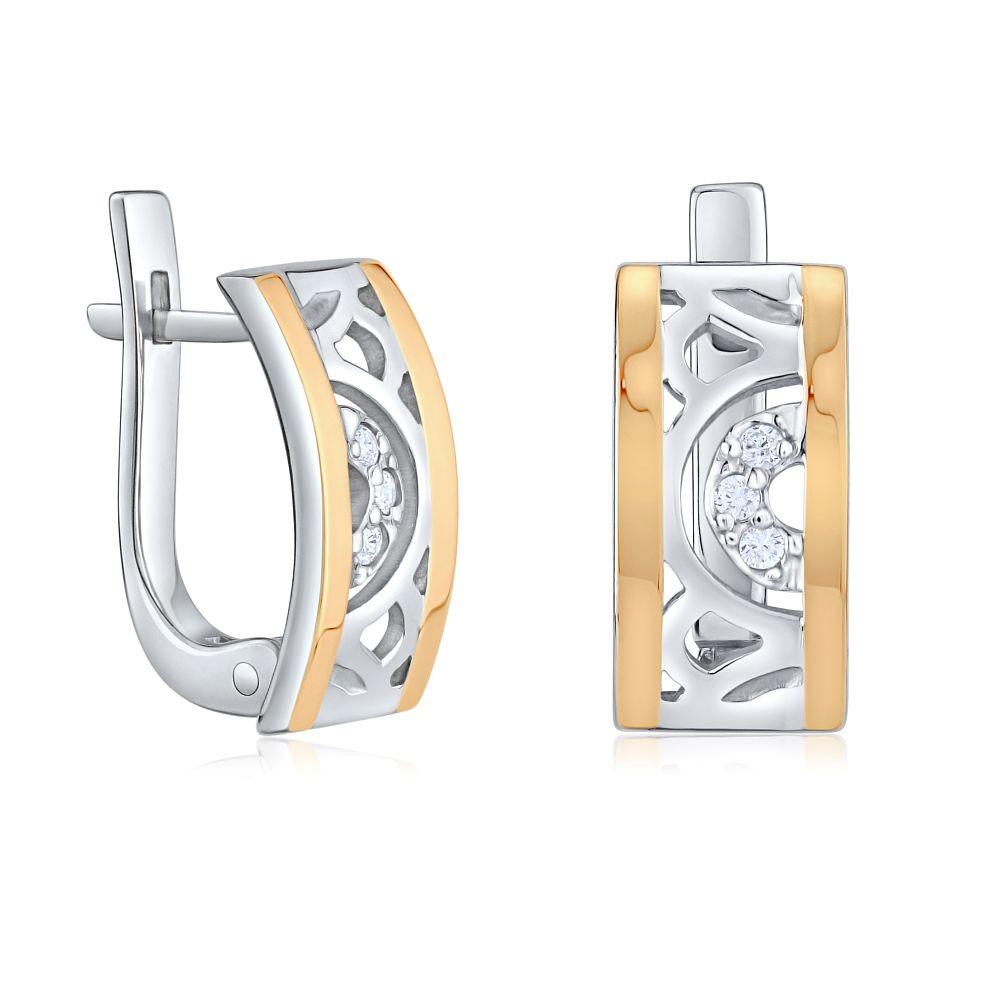 Náušnice CARYS ze zlata a stříbra