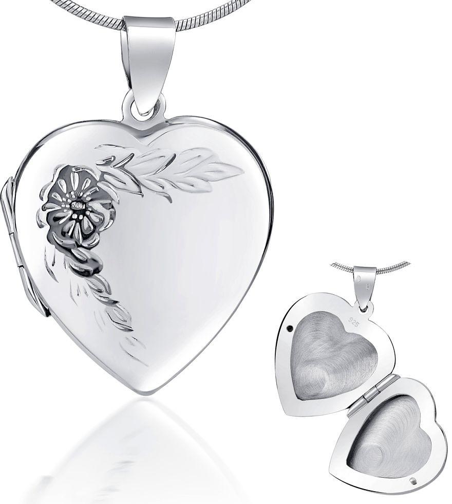 Stříbrný medailon otevirací s rytím 22 mm - PRML10248