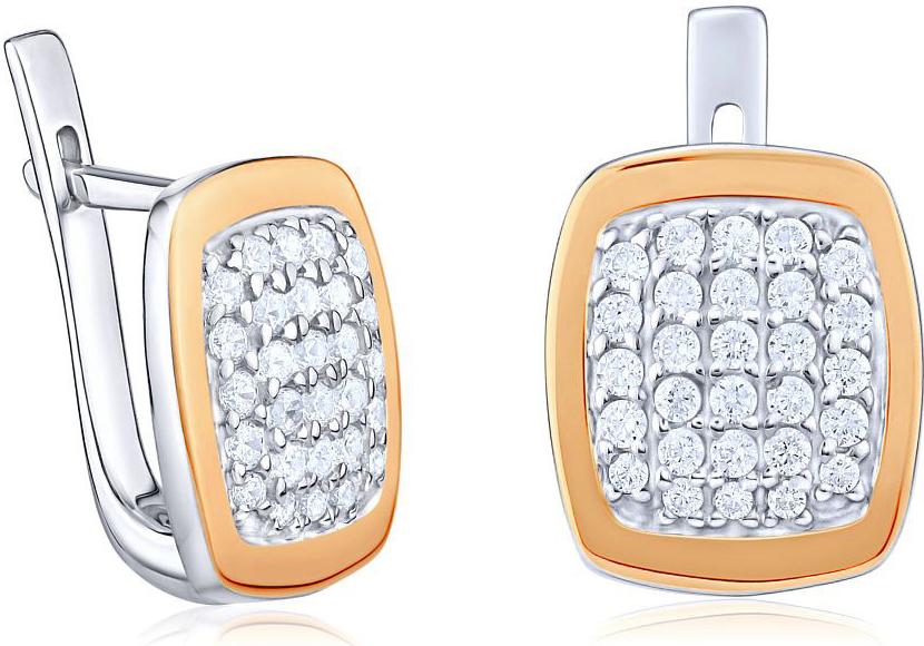 Luxusní náušnice JUVELA ze zlata a stříbra BNU391
