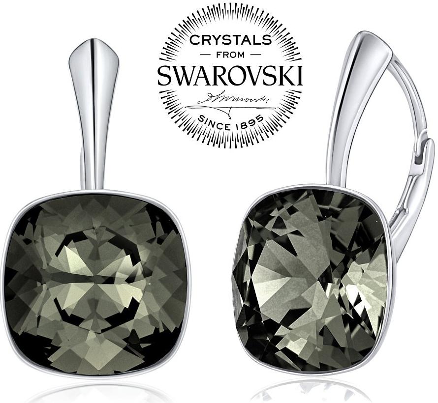 stříbrné náušnice se Swarovski VSW049E