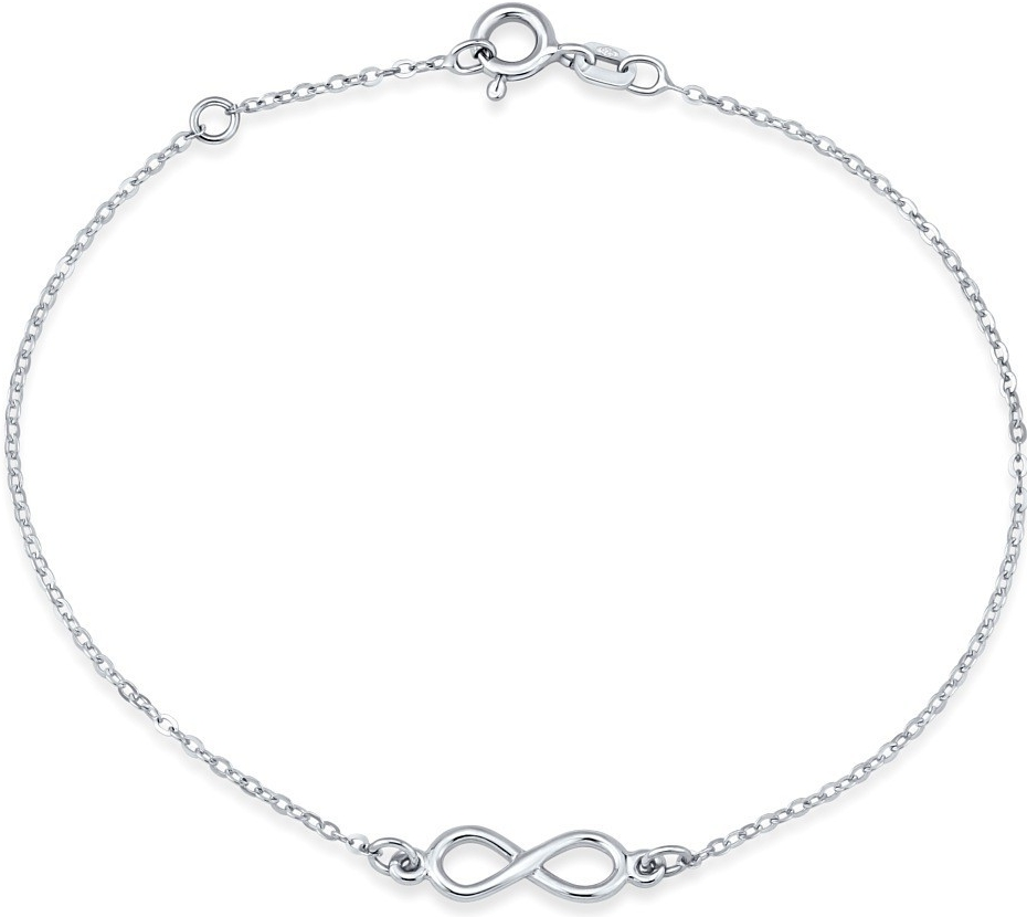 Stříbrný náramek s přívěskem INFINITY nekonečno SMJB024EE5