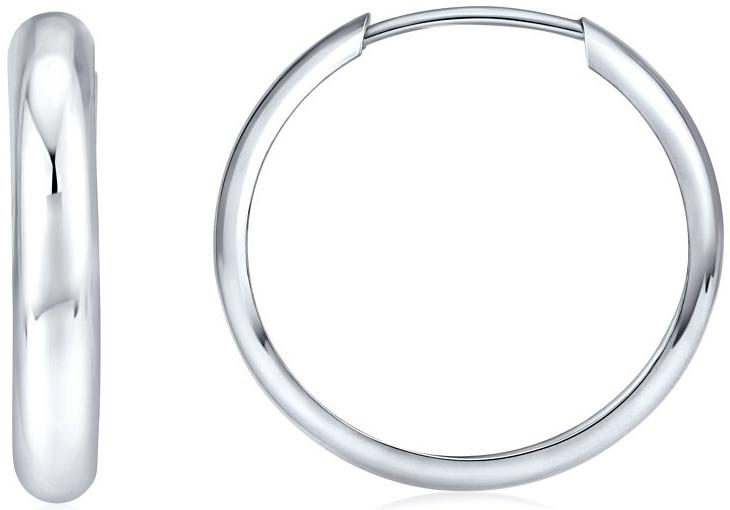 Stříbrné náušnice kruhy 26 mm SVXKL50