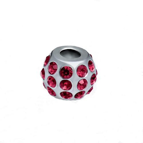 Přívěsek z chirurgické oceli Morellato Drops Crystals Red