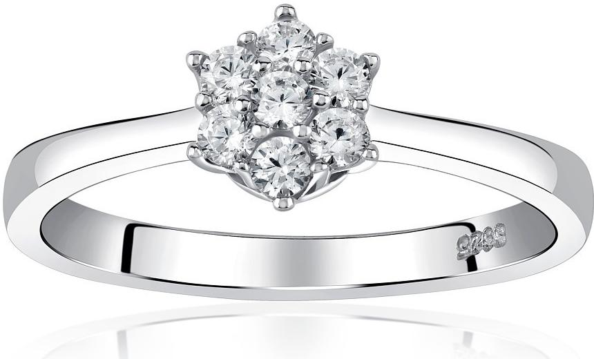 Zásnubní stříbrný prsten FLORINA s Brilliance Zirconia - JJJR2338R