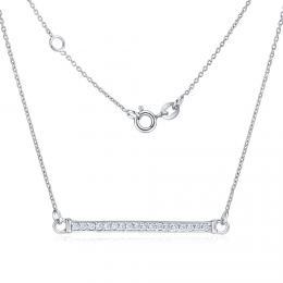 Stříbrný náhrdelník VARSAMIA se zirkonovým přívěskem ZTJNF61006