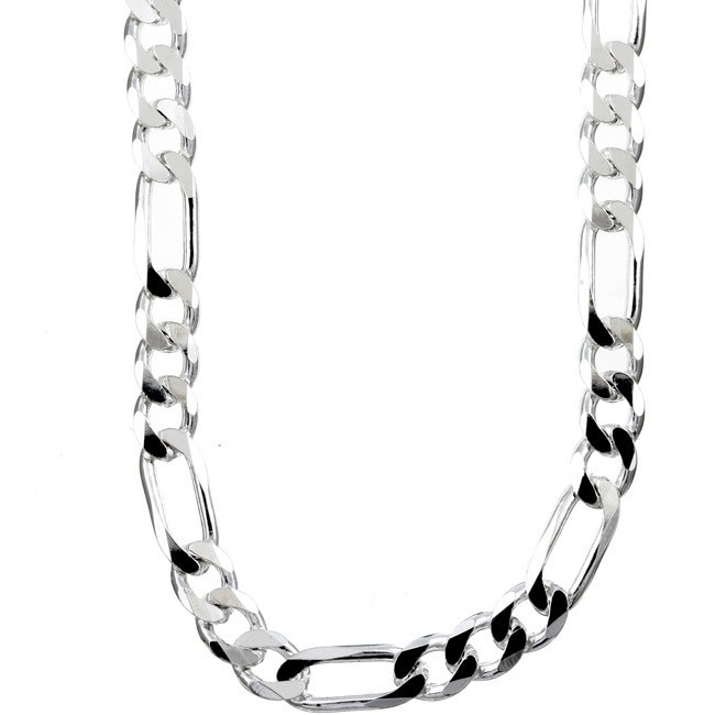 Stříbrný masivní náhrdelník FIGARO 8,5 mm - rhodiovaný TTT850NFIG