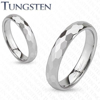 Wolframové snubní prsteny R-TUF-008