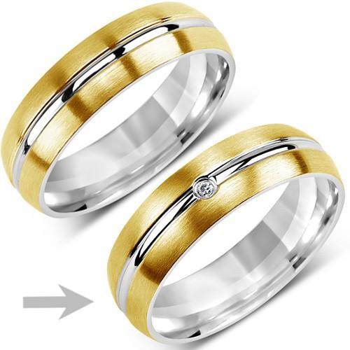 Snubní prsteny z chirurgické ocel RRC2047