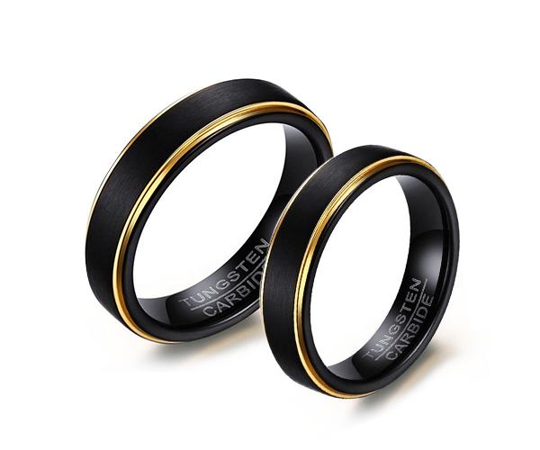 Wolframové snubní prsteny R-TU-126