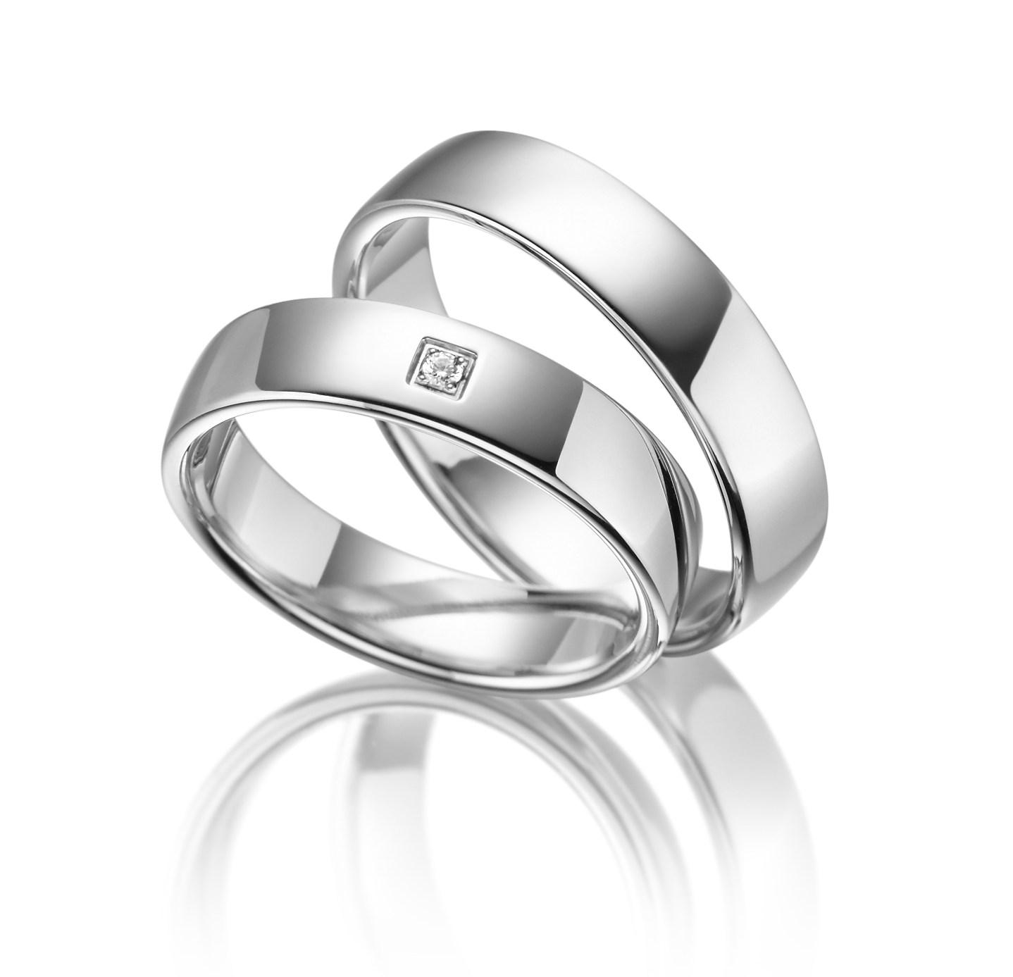 Stříbrné snubní prsteny SI-01