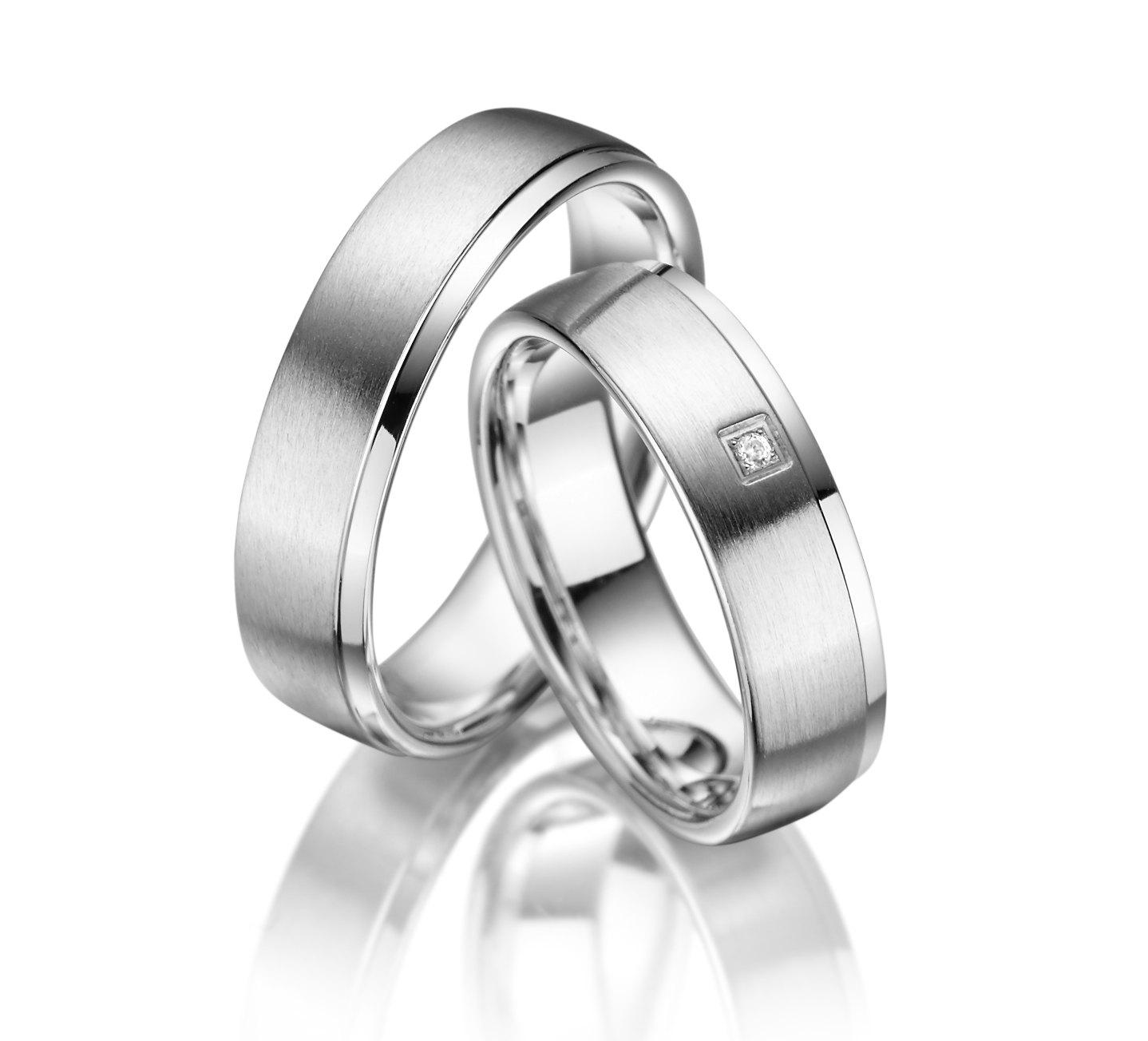 Stříbrné snubní prsteny SI-02