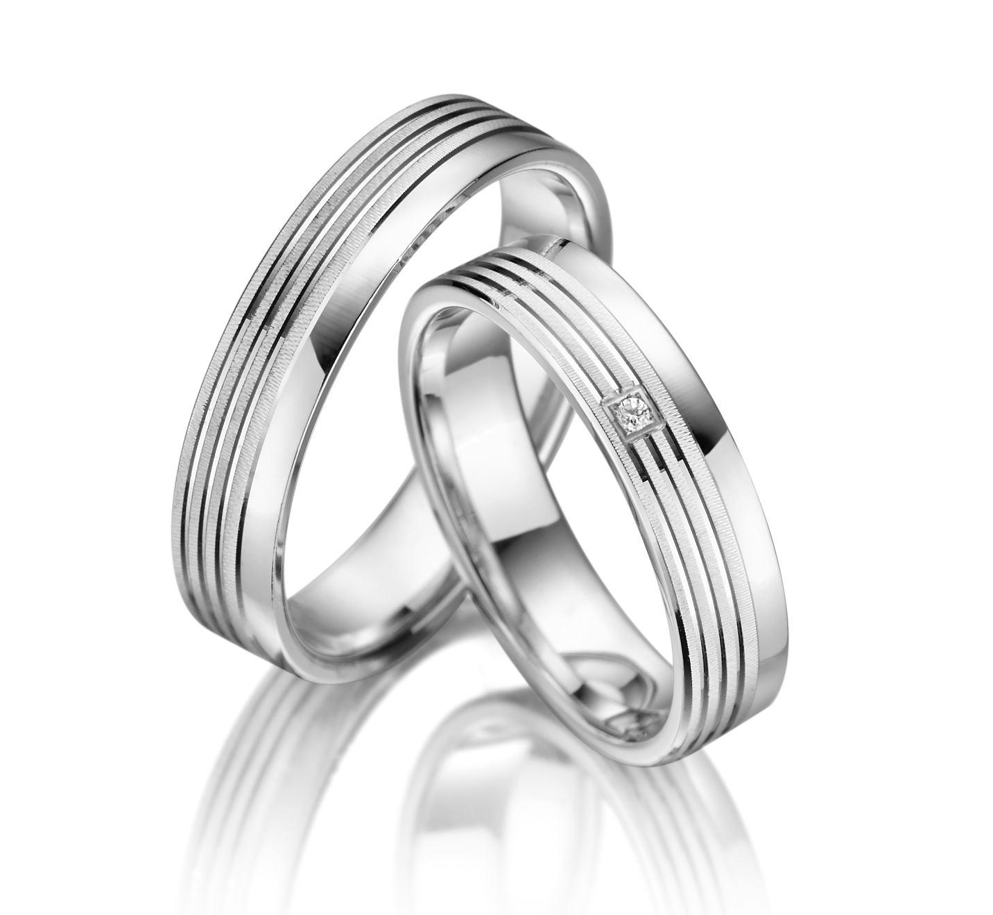 Stříbrné snubní prsteny SI-03
