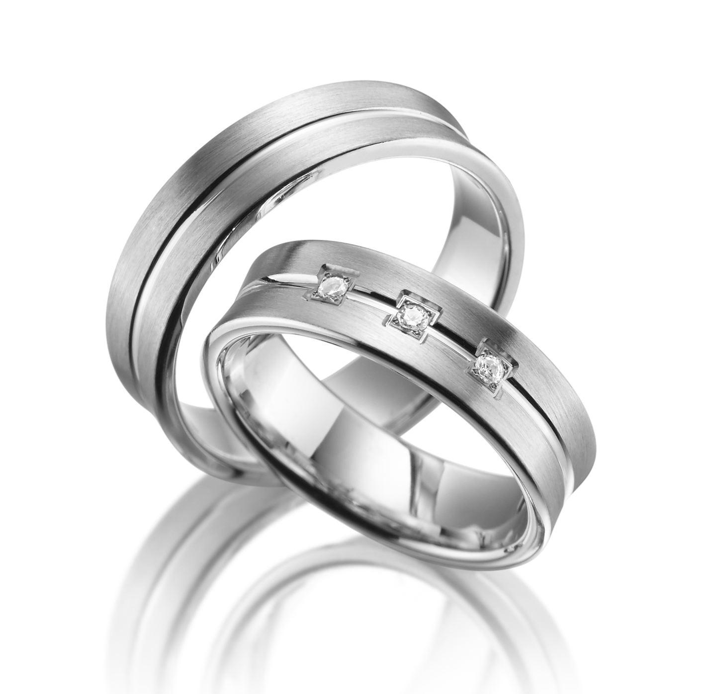 Stříbrné snubní prsteny SI-04