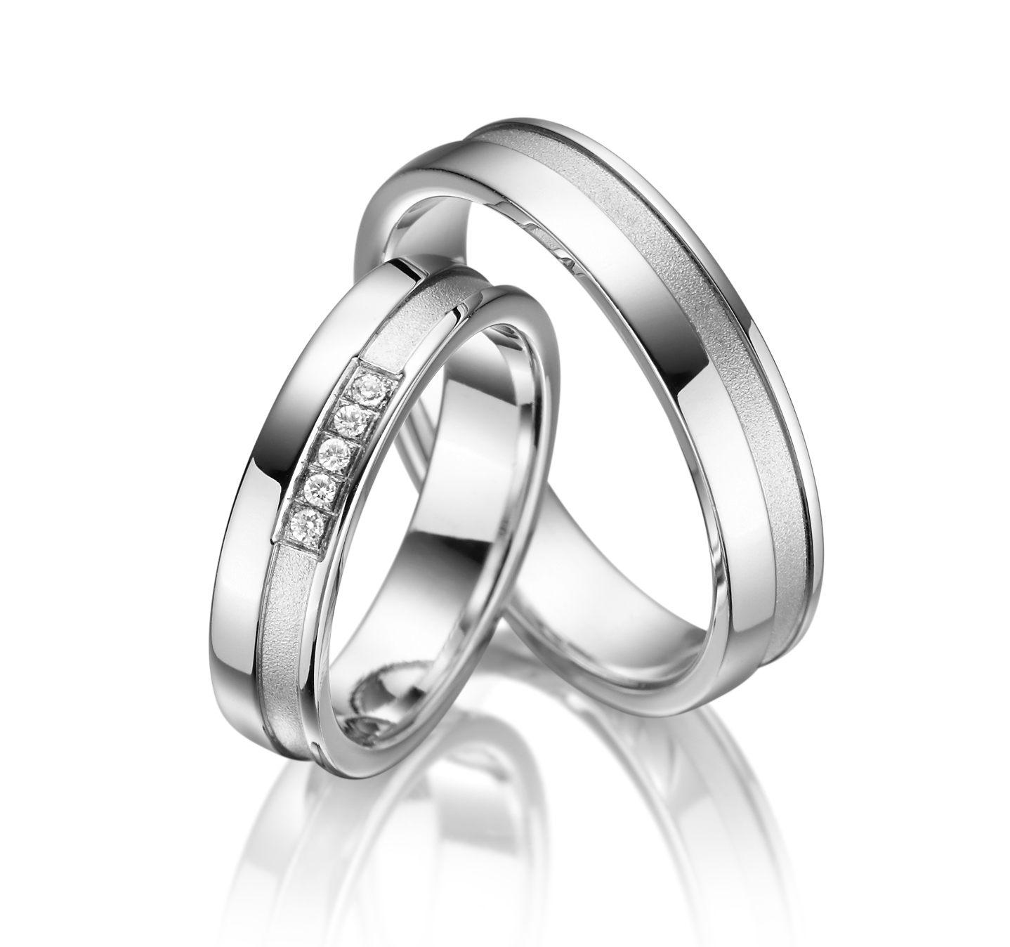 Stříbrné snubní prsteny SI-05