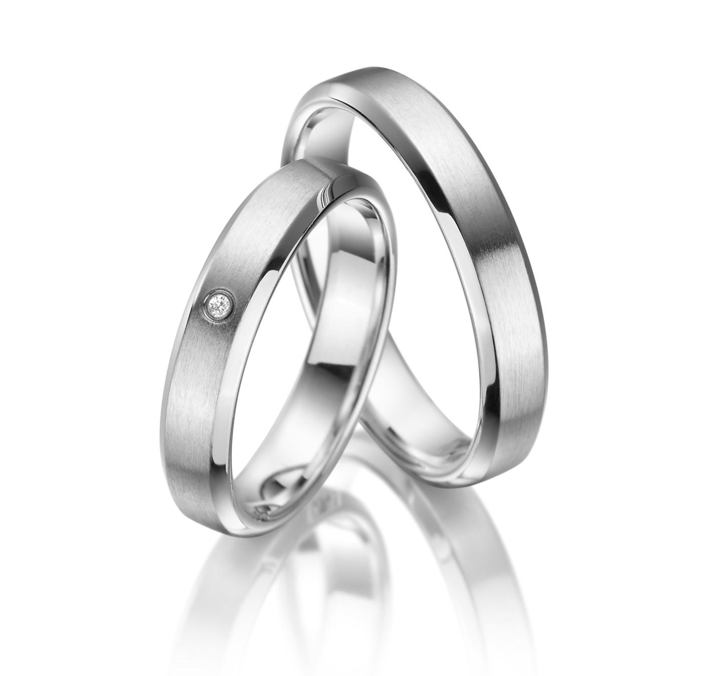 Stříbrné snubní prsteny SI-06