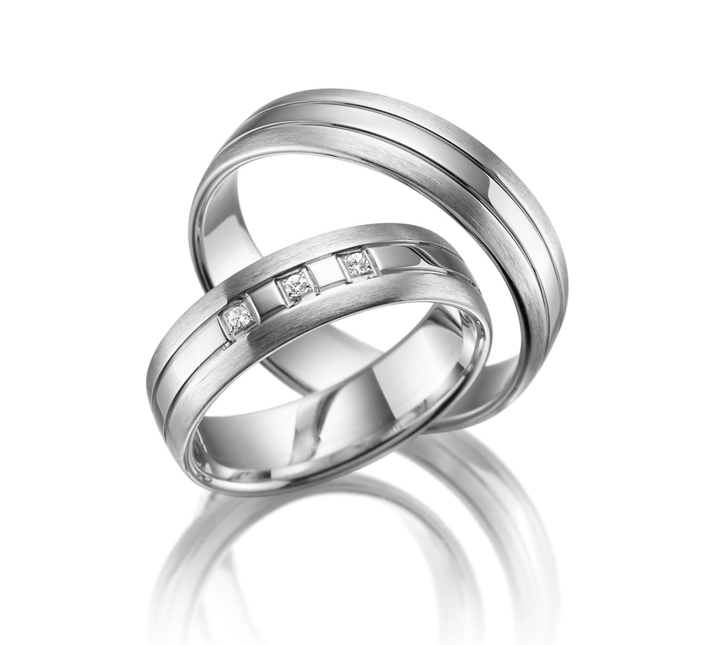 Stříbrné snubní prsteny SI-07