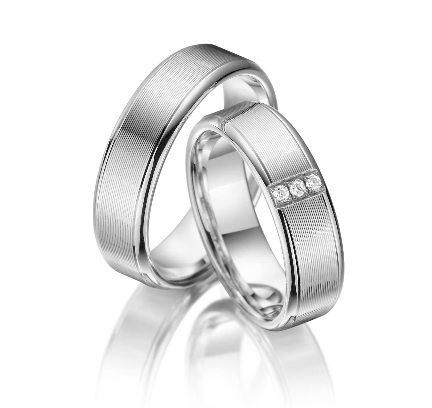 Stříbrné snubní prsteny SI-08