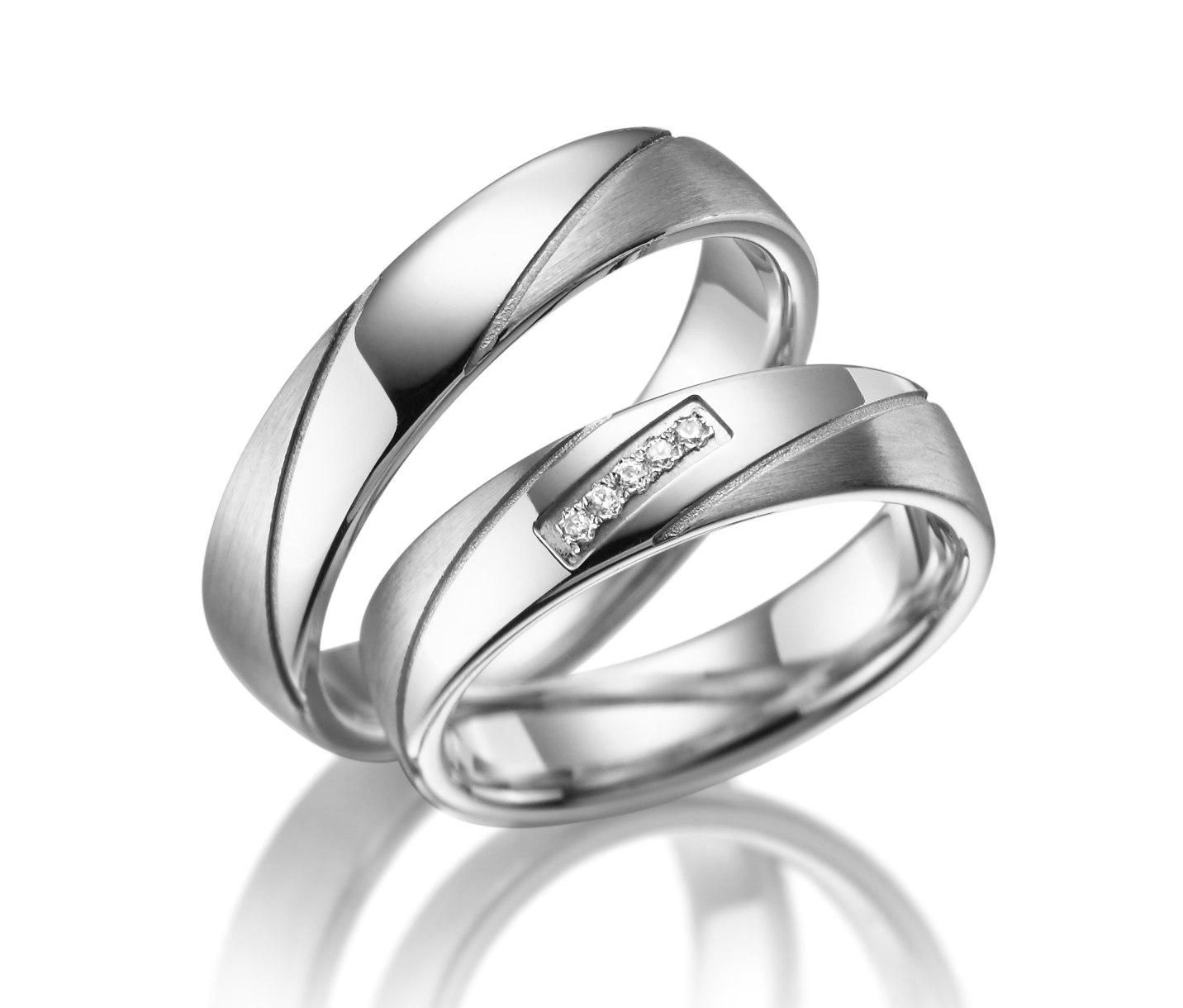 Stříbrné snubní prsteny SI-09