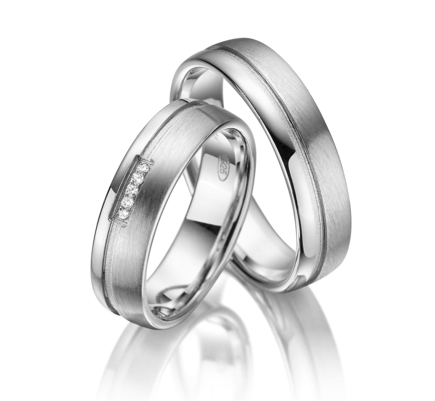 Stříbrné snubní prsteny SI-10